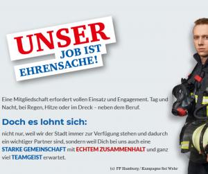 Unser Job ist Ehrensache | (c) Freiwillige Feuerwehr Hamburg